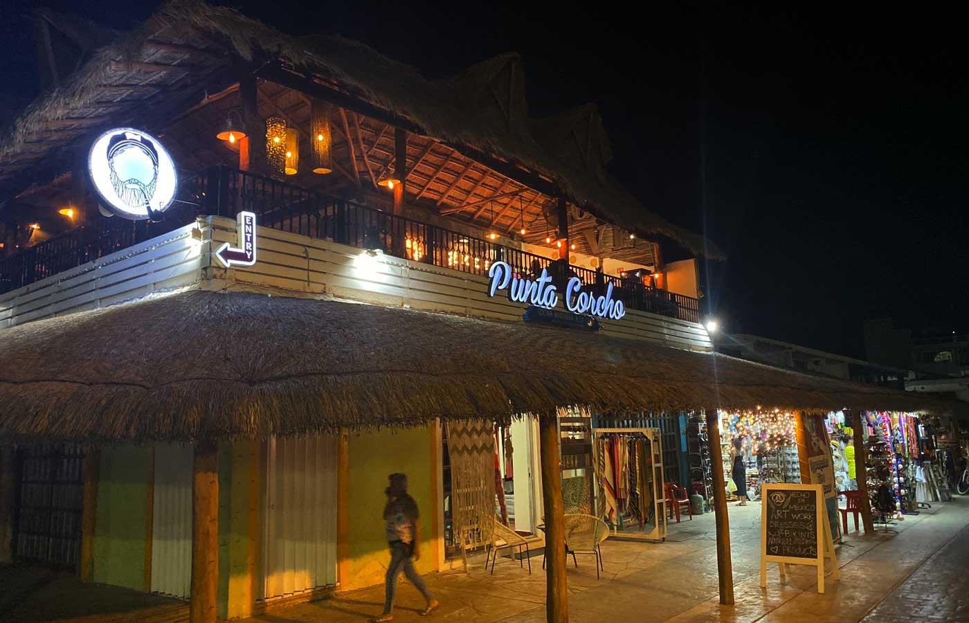 a second floor restaurant in puerto morelos